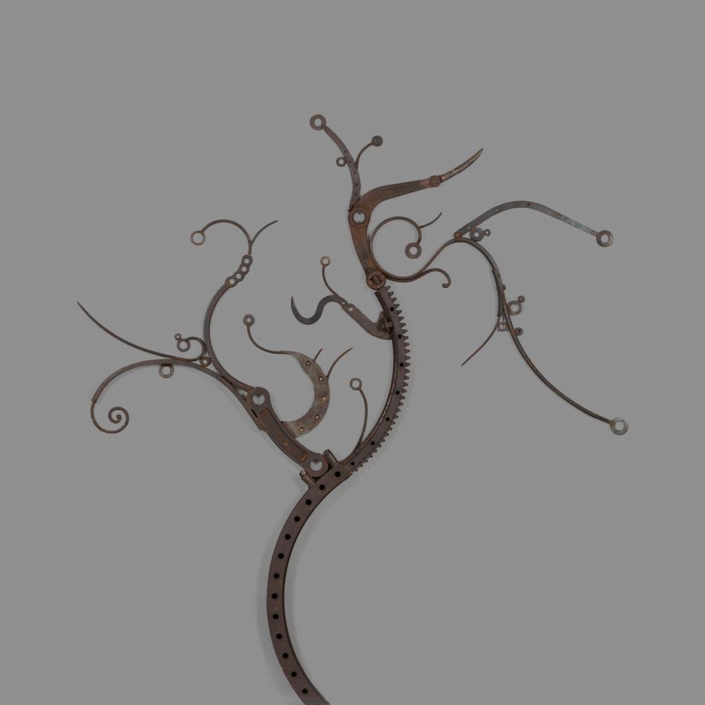 Cerisier en fleurs     H. 222 ; L. 208 ; P. 7 cm Vendu