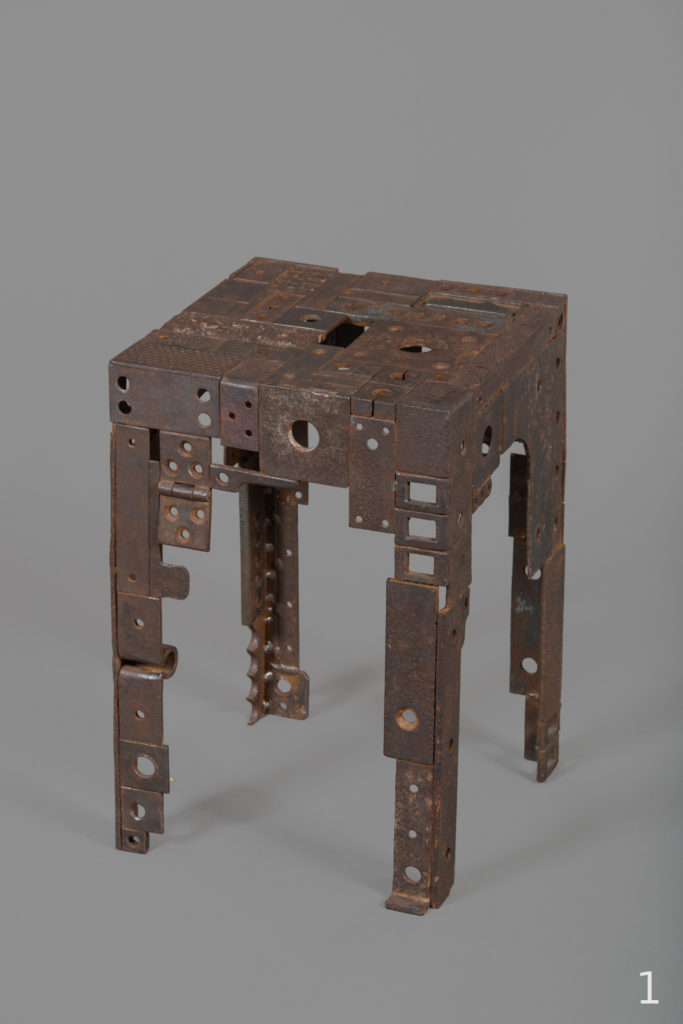 "Tabouret""1""  H. 45 ; L. 30 ; l. 30 cm   Vendu"